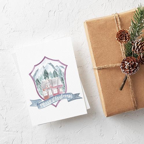 Holiday Cottage Crest Card