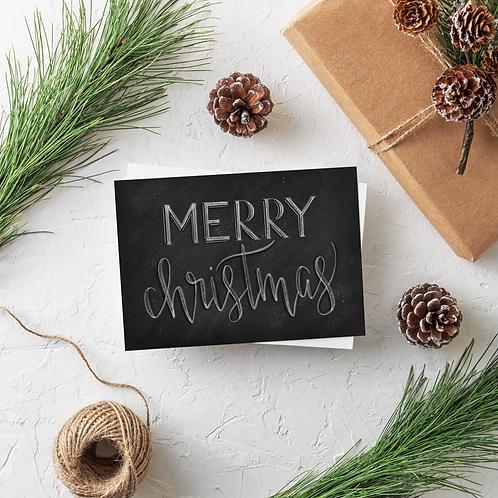 Merry Christmas Chalk Card