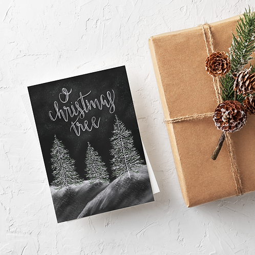 Chalk Holiday Card 6 Pack