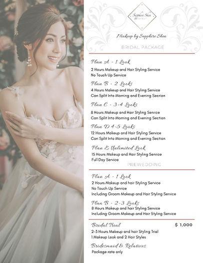 Bridal Makeup Hong Kong Price List