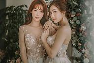 Floral Bridal makeup and hair