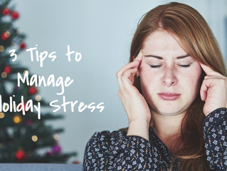 3 Tips to Relieve Holiday Stress