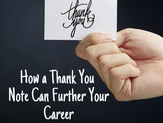 How a Thank You Note Can Further Your Career
