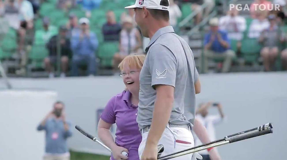 Amy Bockerstette and Gary Woodland