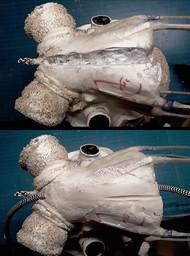 Schneiden eines Kabelkanals im Nacken: Einmodellieren des Hauptzuleitungskabels