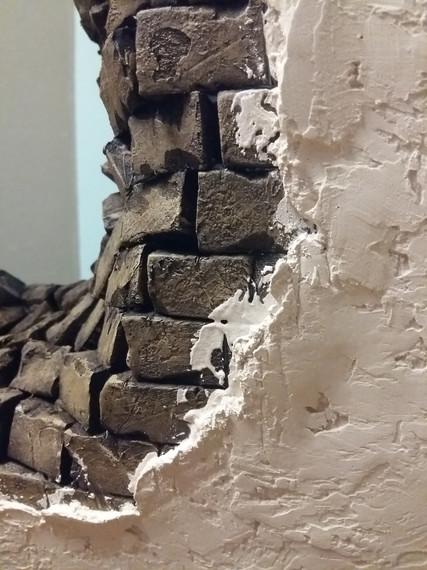 Vorläufiger Übergang von Wandputz zur Maueröffnung (noch nicht fertig ausgearbeitet)