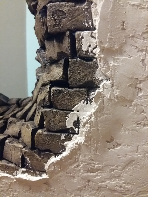 transition from wall plaster to wall opening (not yet finished)