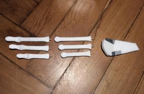 Individual parts of the hand (made of Styrodur)