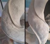 Ausarbeiten der späteren Saugnapf-Flächen mit Modellier- und Spachtelmasse