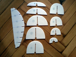 Building a framework of styrodur plates