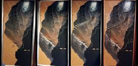 Malen des Hintergrundbildes (Ölfarben auf Malplatte)