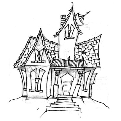 First sketch of the Villa