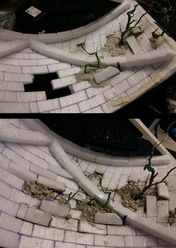 Bau der Gewölbedecke: