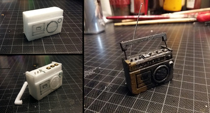 Building a small radio made of Styrodur and small metal pieces