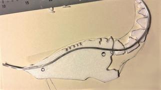 Zuschneiden der einzelnen Styrodurelemente - Anbringen eines Rückgrats aus Draht