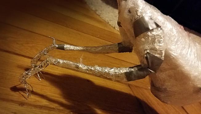 Ausformen der Beine mit Folie