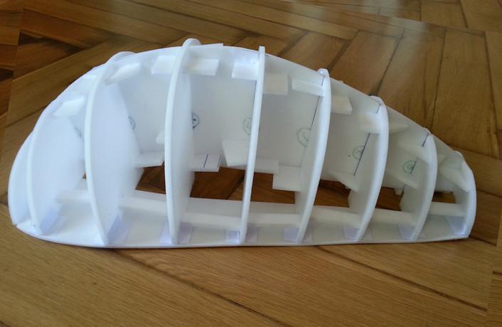 Zusammenstecke der Teile (Rücken)