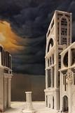 Unbemalte Rohform des Gebäudes