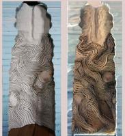 Gegenüberstellung: Vorskizzierter und fertig ausmodellierter Sedimentunterbau