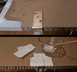 Bearbeitung der Bodenplatte: