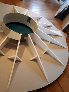 Construction of the base/ rotary plate: