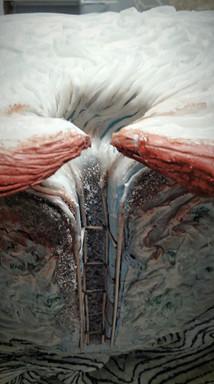 """Ausarbeitung eines """"strudelartigen"""" Übergangs zwischen Oberfläche und Sedimentbereich"""