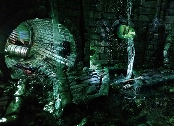 Final touches to the interior of the sewers: