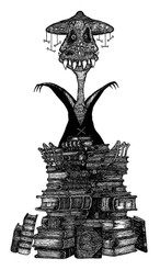 Original book illustration of Inazea