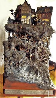 Fertiges Modell mit der Stadt Buchhaim und den unterirdischen Katakomben.