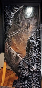 Endgültige Bemalung: Steinstruktur und Übergang zum Bild