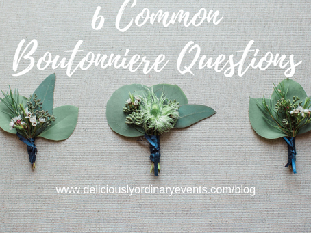 6 COMMON BOUTONNIERE QUESTIONS