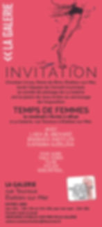 Invitation vernissage Temps de Femmes 20
