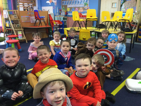 Reception learning in school this week.