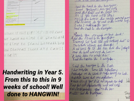 Handwriting in Year 5