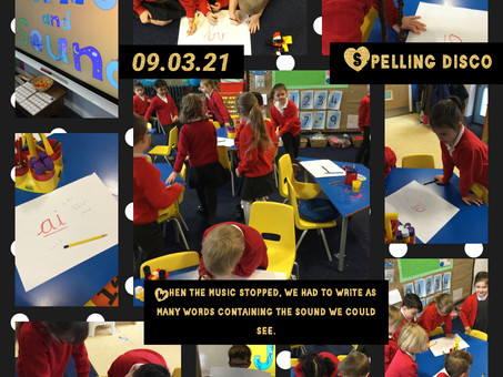 Year 1 spelling disco!