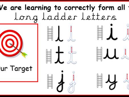 Long letter ladders