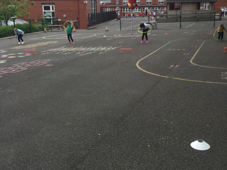 Sports day in Year 2