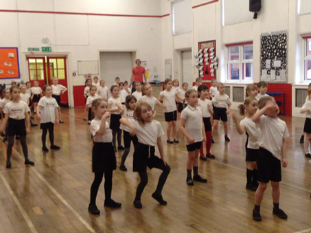 Fitness session in Year 2