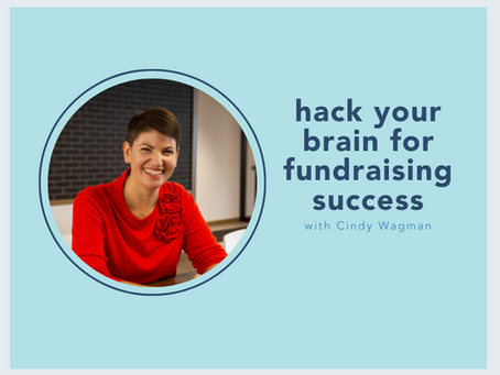 hack your brain for fundraising success with Cindy Wagman