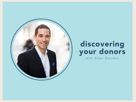 discovering your donors with Allen Davidov