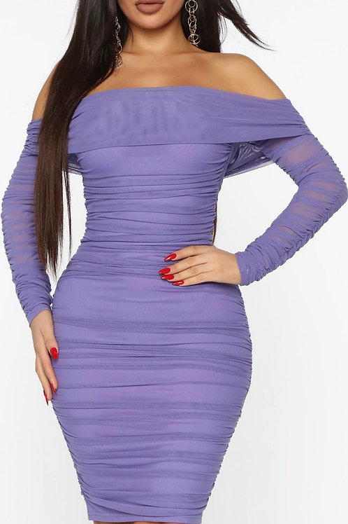PURPLE RUCHED