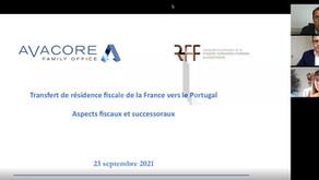 Webinaire - Transfert de résidence fiscale de la France vers le Portugal