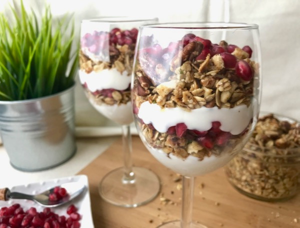 Coconut Pomegranate Parfait