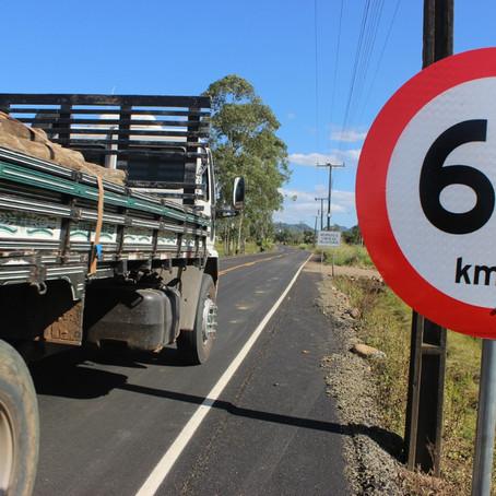 Com sinalização concluída, pavimentações em rodovias são finalizadas!