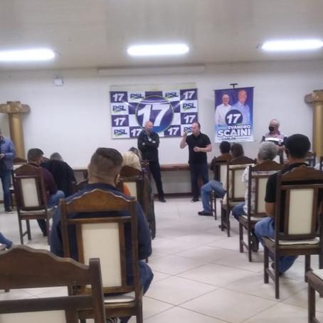 Deputado federal e Partido Social Liberal (PSL) avalizam candidatura de Scaini e Scarsanella