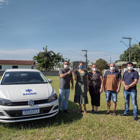 Santa Rosa do Sul recebe veículo para a secretaria de Saúde