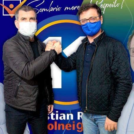 Cristian Rosa e Volnei Giassi realizam abertura oficial do Comitê