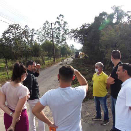 Prefeitura de Gaivota inicia trabalhos para pavimentação asfáltica na Rua Nova