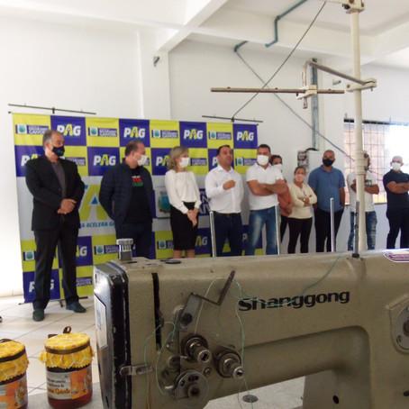 Gaivota inaugura Centro de Formação Profissional e recebe emenda de R$ 300 mil
