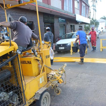 Jacinto Machado revitalizará sinalização horizontal de toda área urbana